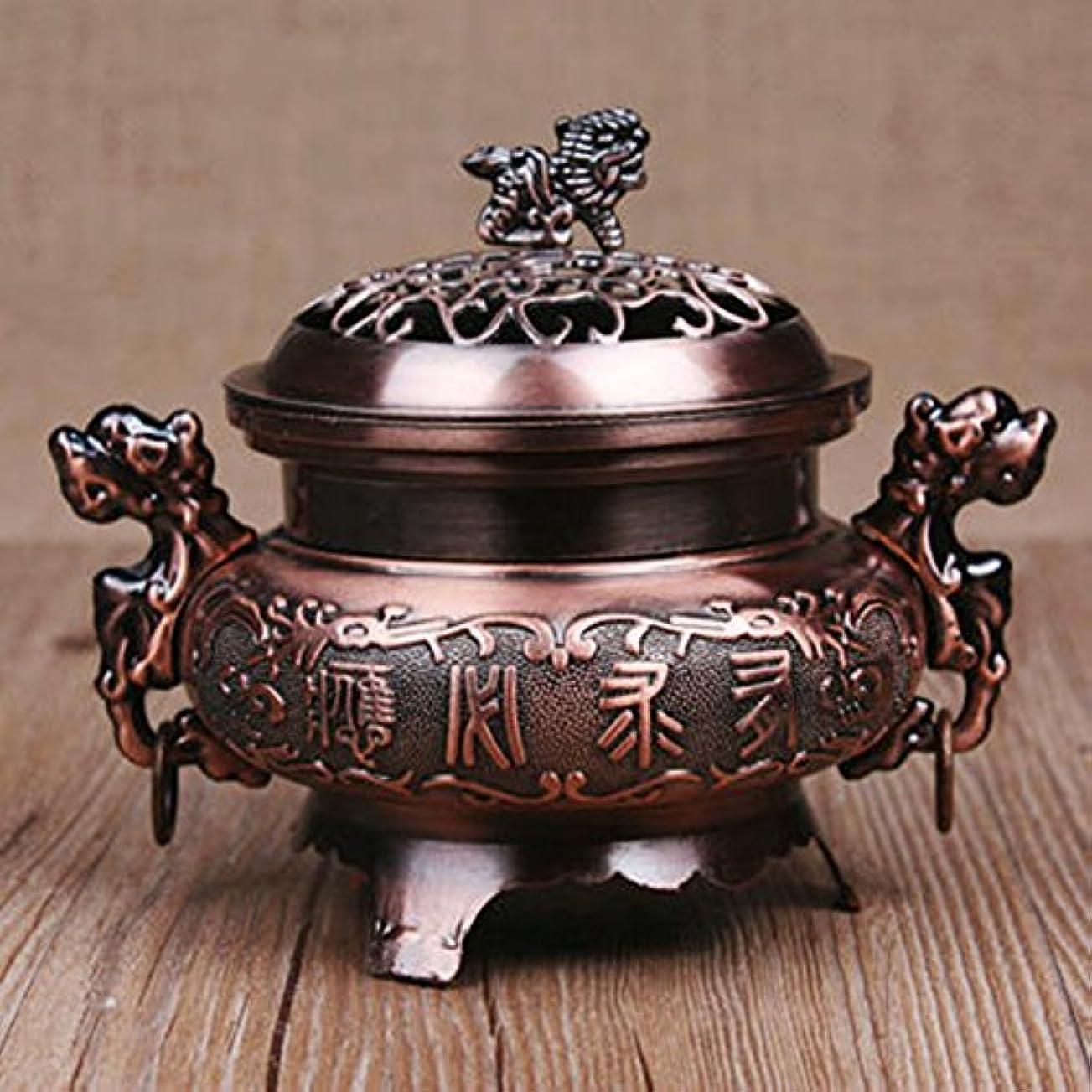 シェフずんぐりしたエンティティocamo香炉レトロスタイル合金香炉ダブルドラゴンHollowカバーCenser円錐ホルダーホーム装飾 WCJ-jiaju-0408-22