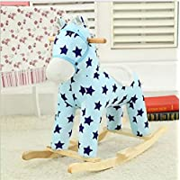 (ヘラサ)Herasa ロッキングホース ロッキング木馬 乗れる ウマ おもちゃ ぬいぐるみ 木製 (1)