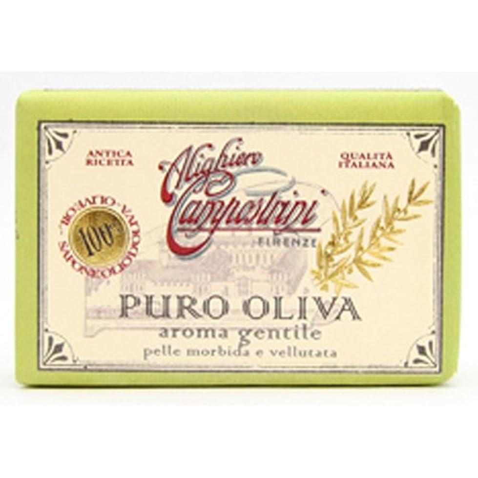 岸とらえどころのない追跡Saponerire Fissi サポネリーフィッシー PURO OLIVA Soap オリーブオイル ピュロ ソープ Aroma gentile ジェントル(グリーン)