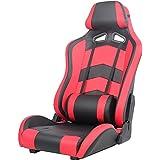 タンスのゲン ゲーミングチェア 座椅子タイプ 180度 リクライニング レバー式 パーソナルチェア グランツ レッド 15010012 RE