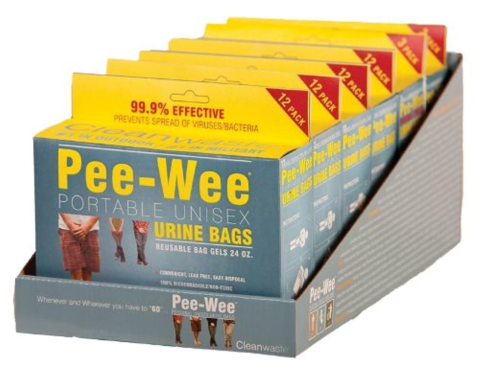 法王騒々しい許すCleanwaste Pee-Wee Unisex Urine Bags - 6 12 Packs by Cleanwaste