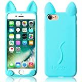 (iPhone 5/5S, A05) - iPhone 5/5S Silicone Cat Case,Techcode Lovely Kiki Cat Silicone Case Cover for Apple iPhone 5/5S(iPhone 5/5S, A05)