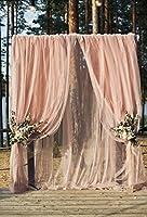 YeeleウェディングBackdrops 8x 10ft / 2.4X 3MブーケArchway Ceremonyブライダルシャワー装飾ウェディングセレモニーアウトドアシフォン大人用芸術的肖像写真の撮影小道具写真撮影背景