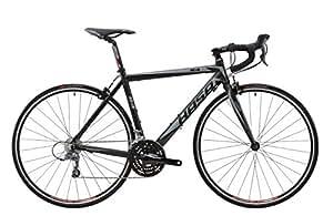 HASA(ハサ) R4 ブラック+グレー フレームサイズ460mm シマノCLARIS24speed ロードバイク デュアルコントロールレバー装備 前後キャリパーブレーキ 前後クイックリリース アナトミックシャロードロップハンドル 10kg 80401-7446 ブラック+グレー 460