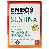 ENEOS (エネオス) SUSTINA (サスティナ) エンジンオイル 5W-20 SN/RC/GF-5 100%化学合成油 4L缶 (1)