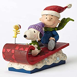 ENESCO(エネスコ) Charie Brown on Sleigh Snow Day! 4052726 [並行輸入品]