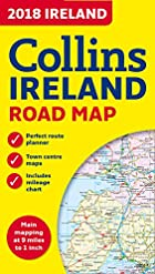 2018 Collins Map of Ireland (Collins Maps)