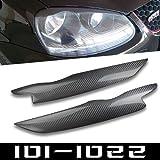 [OWOLF] 車 フォグランプアイブロー ヘッドライトカバー アイライン 「フォルクスワーゲン(Volkswagen)ゴルフ(Golf) 5 GTI ジェッタ(Jetta )R32 Rabbit Mk5 A 2006 2009」に適合 純正カーボン(carbon fiber) 炭素繊維製