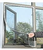 All Sunshine アンチモスキートバグ昆虫フライウインドスクリーンのメッシュネットカーテン粘着ベルクロテープ・ブラック(1個)
