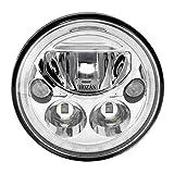 【HOZAN正規新品】65W 7インチ CREE製LED ヘッドライト ハーレー対応 デイタイムランニングライト付き Hi/Lo切り替え シルバー 1年間保証付き