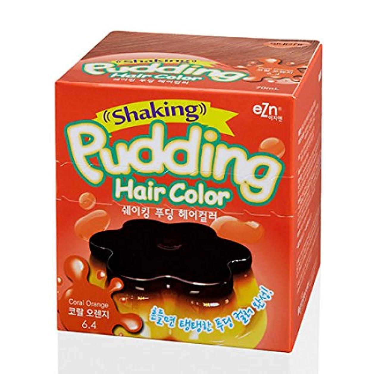 形状安心群れKOREA NO.1 毛染め(hair dyeing) shaking pudding hair color (coral orange) [並行輸入品]