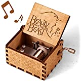mrwinder Beauty and The Beast Music Box - Merchandise Vintage Classic Wood Hand Crank Carved Best Gift for Kids, Boys, Girls,
