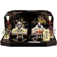 雛人形 コンパクト 久月 ひな人形 雛 木目込人形飾り 平飾り 親王飾り 一秀作 鎌倉雛 正絹 伝統的工芸品 h303-k-36018 K-108