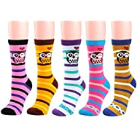 Deer Mum Women Lady Cute Novelty Owl Design Casual Fashion Socks