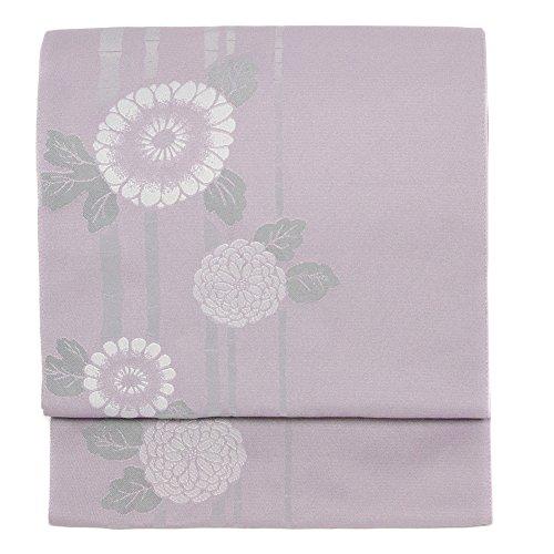 (キョウエツ)KYOETSU日本製名古屋帯竹菊洗える仕立て上がりG(紫)