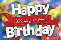 Postcards - Happy Birthday - All Ages - Happy Birthday Blessings To You! (Pkg. of 25) [並行輸入品]