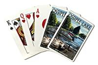 Ossipee湖、New Hampshire–Pontoonボート( Playingカードデッキ–52カードPokerサイズwithジョーカー)