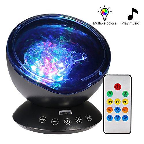 ベッドサイドランプ 海洋プロジェクターライト 投影ランプ 自...