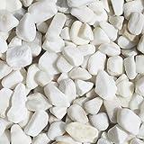 天然石 玉石砂利 スノーホワイト 1-2cm 30kg