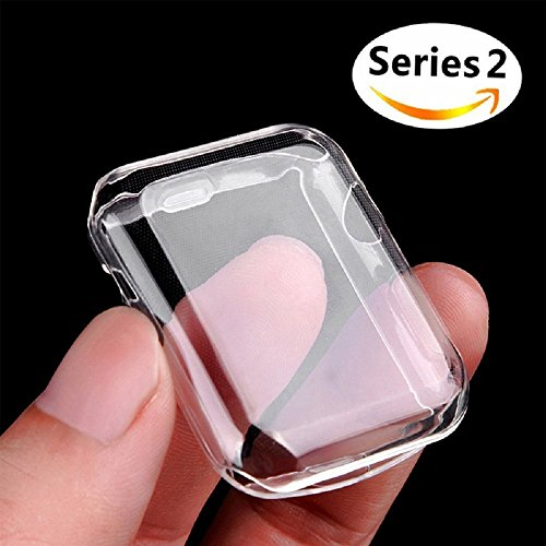 Apple Watch 2 ケース, Misxi アイフォンウォッチ Series 2 柔らかい TPU 保護フィルムオールラウンド超薄型カバー新しいアップルウォッチシリーズ 2 ケース (38mm)
