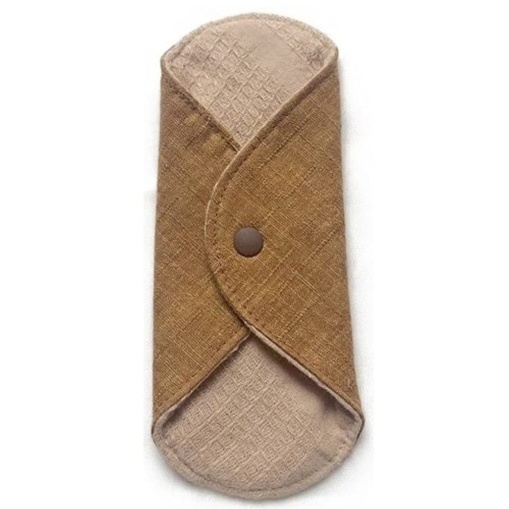 会話型学習者子供時代華布のオーガニックコットンのあたため布 Sサイズ(約13×約13cm) 彩り(栗)