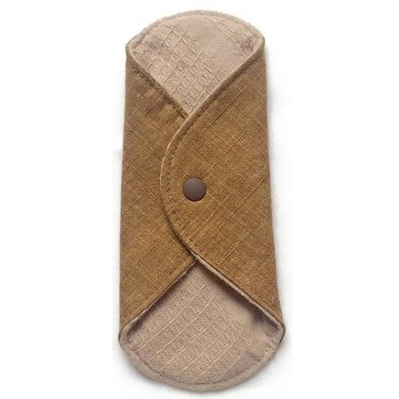 欠員ミュウミュウマンモス華布のオーガニックコットンのあたため布 Sサイズ(約13×約13cm) 彩り(栗)