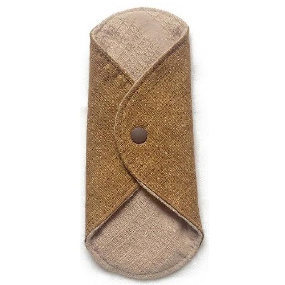 ストローク魔法暴露する華布のオーガニックコットンのあたため布 Sサイズ(約13×約13cm) 彩り(栗)