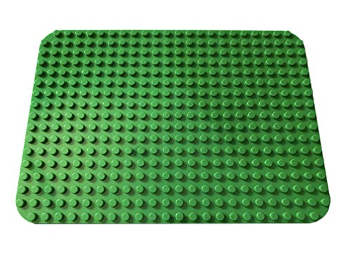 Apostrophe Games Large Building Block Base Plates Compatible with All Major Brands (1x Green)