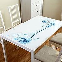 ソフトガラスPVC長方形のテーブルクロス、防水テーブルマット、ホームリビングルームコーヒーテーブルクロスクリスタルプレート(1.5ミリメートル) ( サイズ さいず : 70*130cm )