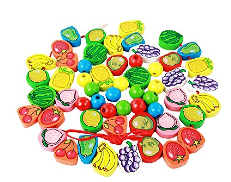 子供の教育玩具キッドのためにおかしい木製フルーツパズル