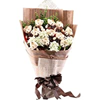 お祝い 可愛い クマ束 アニマル ぬいぐるみ ギフト プレゼント ベア ブーケ 結婚式 記念日 誕生日成人礼 出産祝い プロポーズ お祝い 卒業式 サプライズ (ブラウン)
