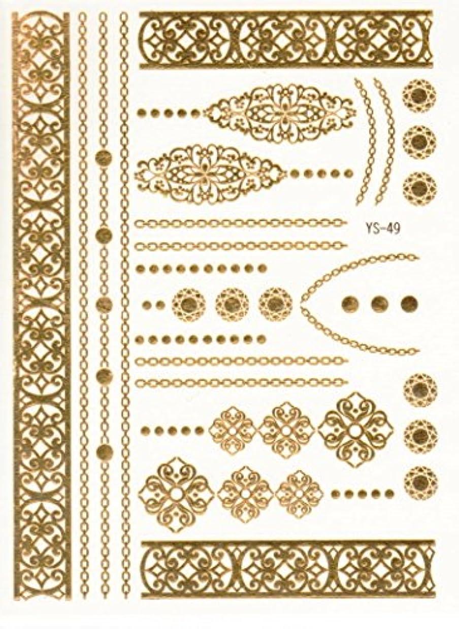 獲物治療高潔なメタリックタトゥー FLASH TATTOOS タトゥーシール 26