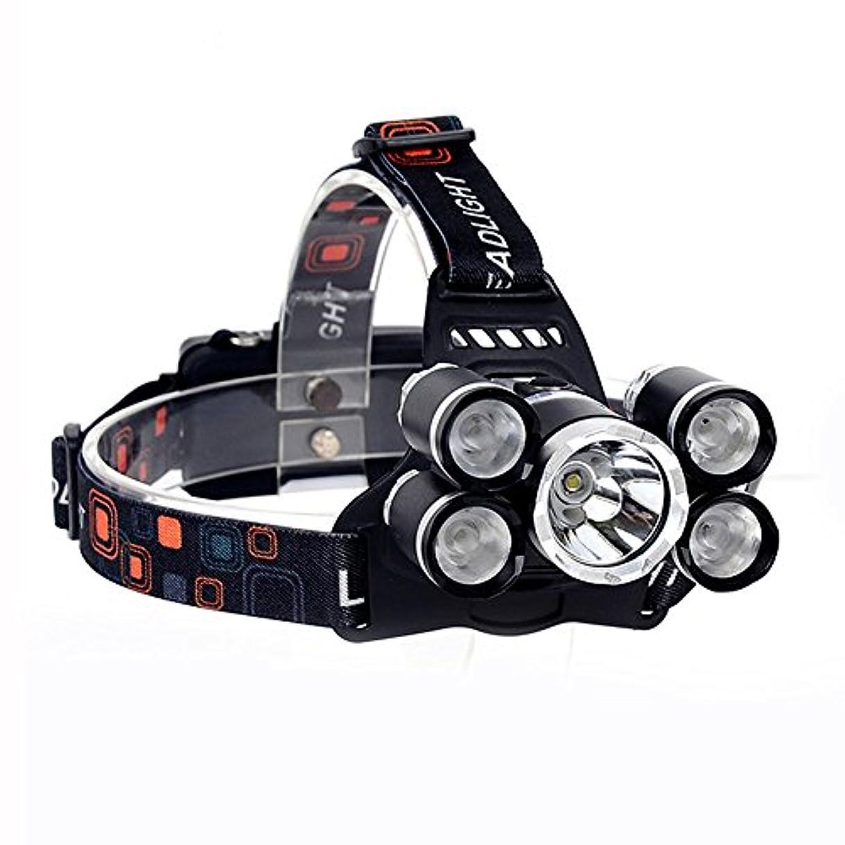 審判ジャンプ束XIAOBUDIAN 15000Lm LEDヘッドランプXML T6 + 4R5ヘッドランプ充電式18650ヘッド懐中電灯トーチキャンプフィッシングランタン