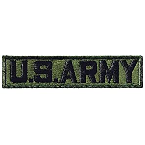 刺繍ワッペンミリタリーパッチ 米軍野 戦用タブOD (U.S.ARMY-OD)