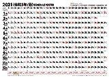 スケジュールポスター B2ヨコ型 2021年 カレンダー 壁掛け B2 CL-644 (トライエックス)