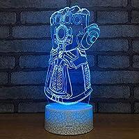 夜の光 3D新型ライトクリエイティブデスクランプを変更する3DナイトライトLED 夜の光 (色 : 7color+touch)