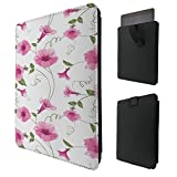 C0497 - Fun Trendy Cute Shabby Chic Flowers Roses Daisy Floral For All Amazon Kindle Fire 8