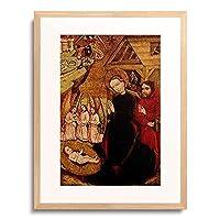 Meister von Nemetlipcse, Ungarn um 1450,um 1450 「Geburt Christi」 額装アート作品