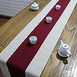 テーブルランナー ホームデコレーション 北欧 スタイル シンプル 工芸品 長方形 エレガント お茶会 ディナーパーティー 家庭用 キッチン (Color : Red, Size : 30*160cm)