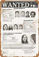 "7"" x 10""メタルサイン–1974パティー・ハーストWantedポスター–Vintage Look Reproduction"