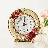ロイヤルローズ置時計/丸型