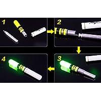 高輝度 LED ケミホタル 37サイズ グリーン1とレッド1の1セット 電池付