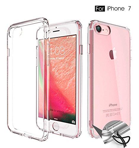 Cakuja iPhone 7 ケース 透明 カバー 衝撃吸収 防指紋 超薄 ストラップホール付き 高透明度(4.7インチ用)