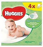 ハギーズの赤ちゃんは自然なケアクワッド56を払拭します (Huggies) (x2) - Huggies Baby Wipes Natural Care Quads 56 (Pack of 2) [並行輸入品]