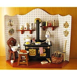 【ロイターポーセリン】【ミニチュア】 ドールハウス キッチン ブルーオニオン RP1790-2