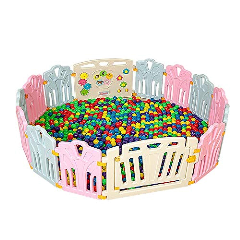 LHA ベッドガード?フェンス 14パネルプラスチック赤ちゃんの再生フェンスのアクティビティパネル折り畳み式の赤ちゃんの子供のゲームのペン屋内セパレータ教育玩具