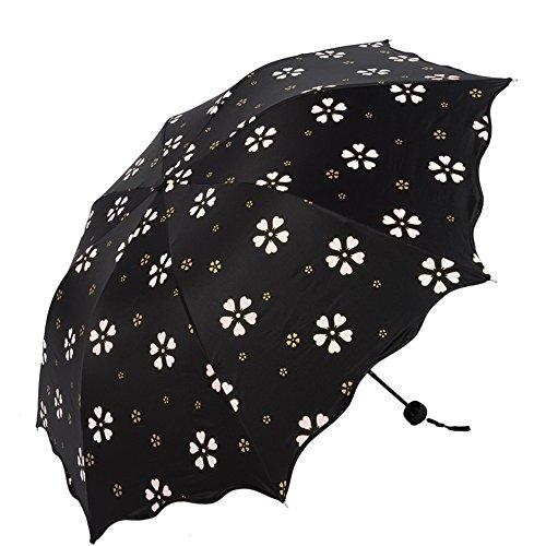 SEHOO濡れると花が咲く魔法の傘 折りたたみ 晴雨兼用 アンブレラ 軽量 折り畳み傘 8本骨 レディー...