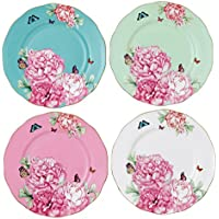 Royal Albert Blessings, Joy, Gratitude and Devotion Tidbit Plates Designed by Miranda Kerr, 3.9-Inch, Set of 4 by Royal Albert
