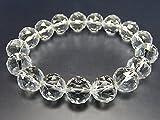 石街[イシガイ]isigaii レア天然石4A水晶ダイヤモンドカット約12mm 数珠ブレスレット パワーストーン