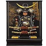 五月人形 大将飾り 子供大将 ケース飾り上杉謙信 165-908